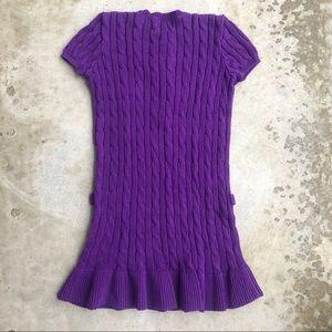Ralph Lauren Dresses - Ralph Lauren cableknit sweater dress cotton purple
